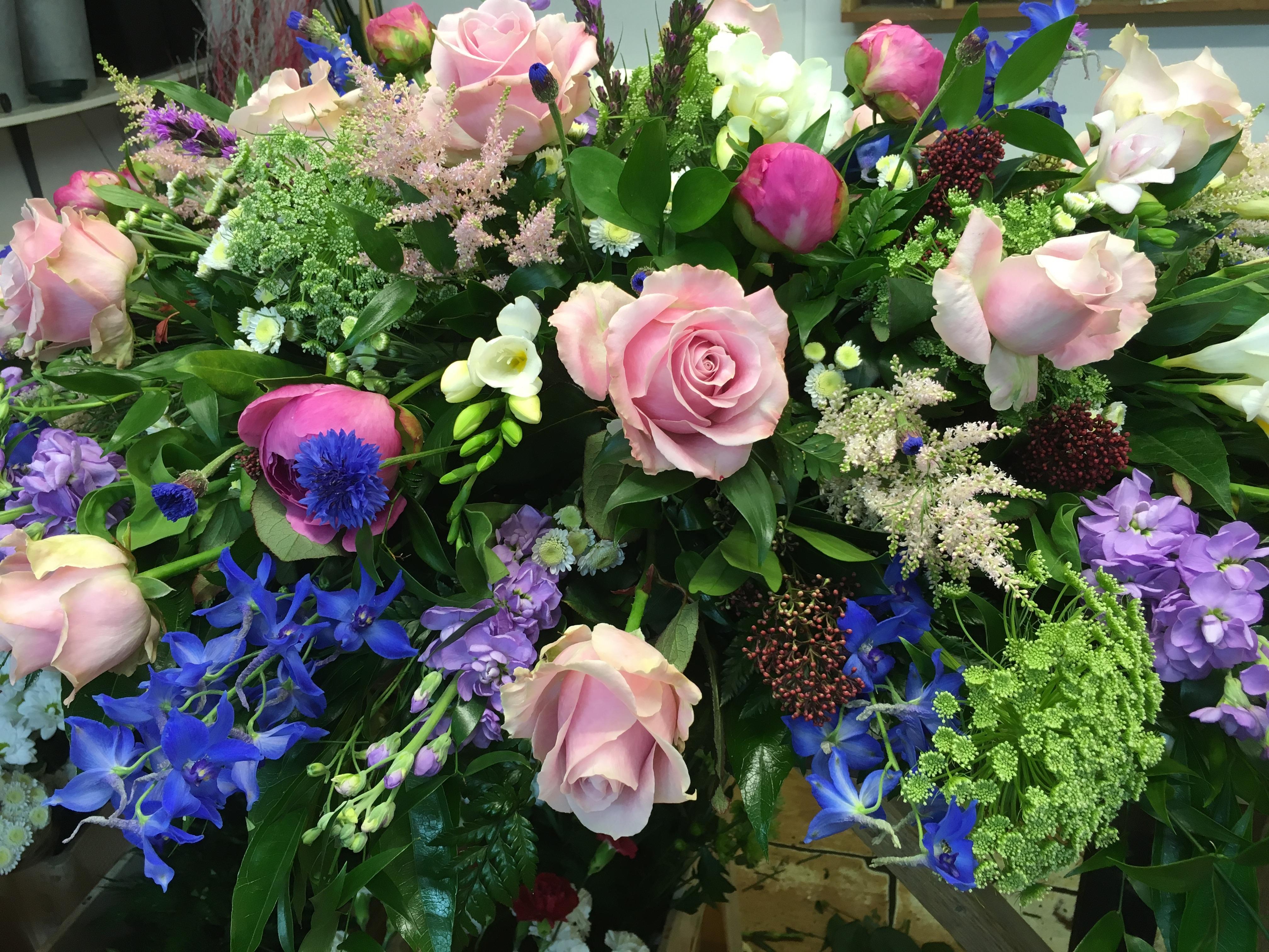 Cottage Garden Coffin Flowers
