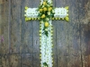 Cross Floral funeral tribute