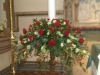 Red Rose and Candle Pedestal