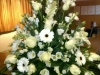 White Mixed Flower Pedestal
