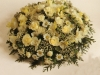 lemon and white floral posy 14""