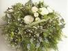 """contemporay floral funeral posy 14"""""""