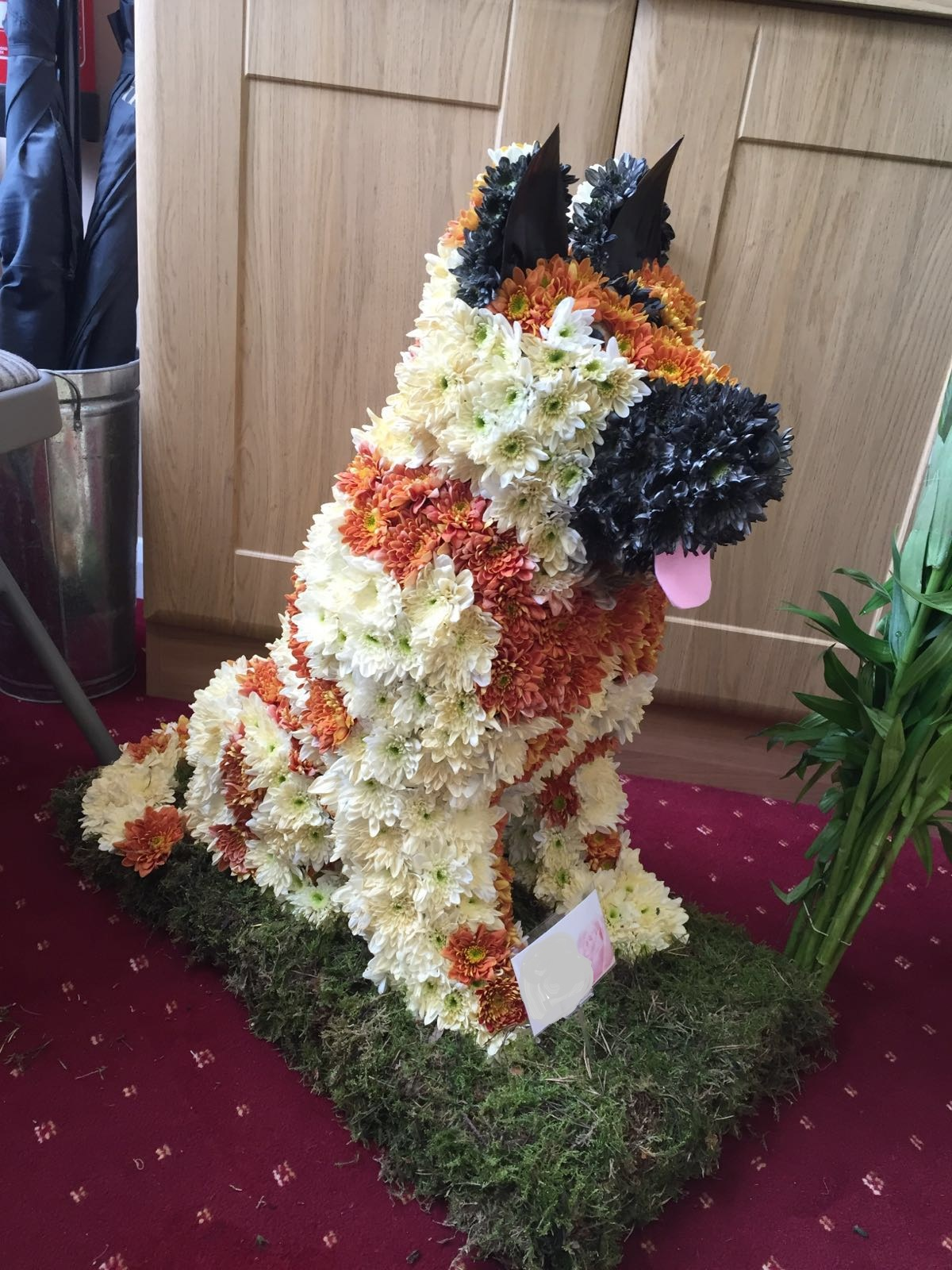 Themed floral tributes first impression flowers floral german shepherd izmirmasajfo