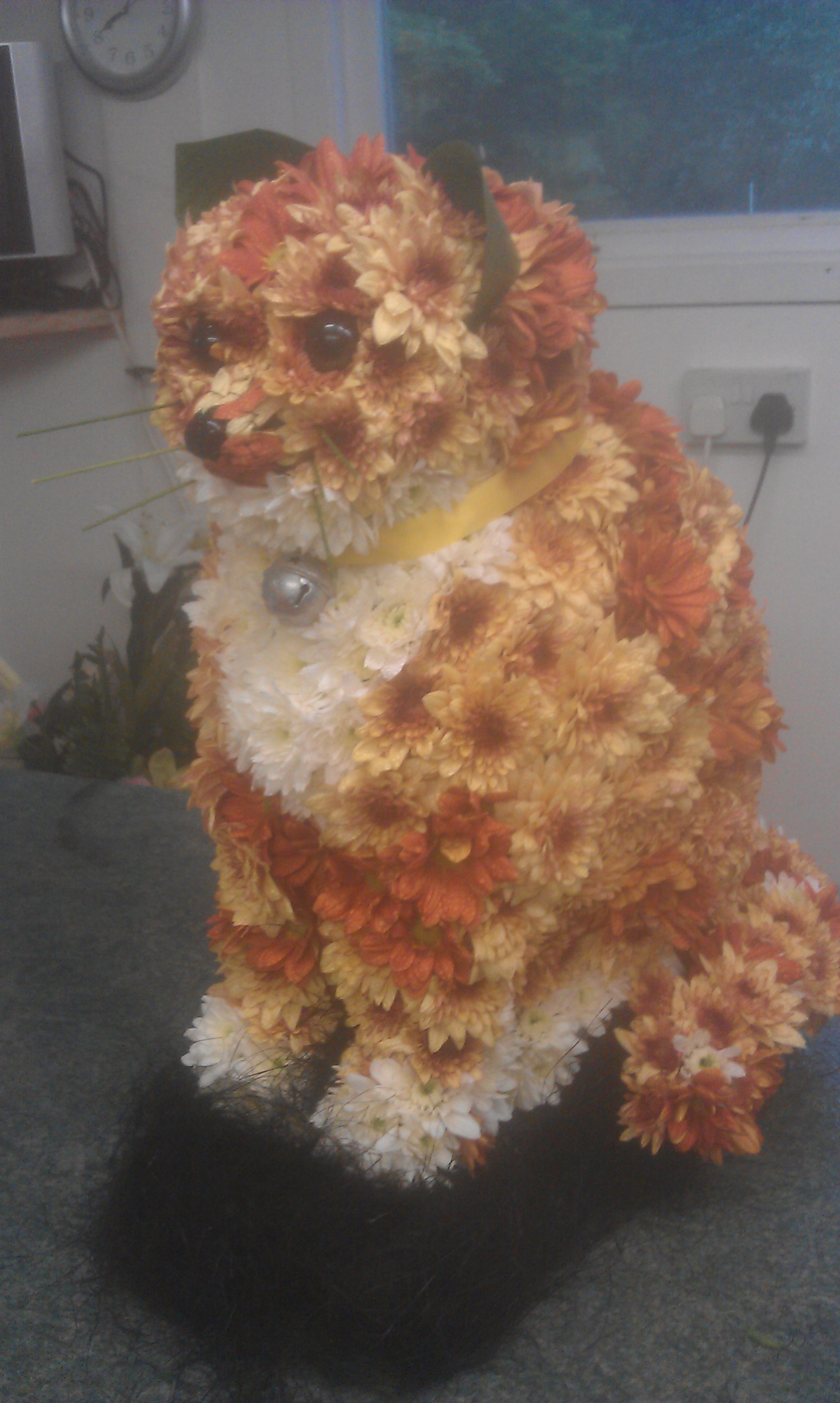 themed floral tributes