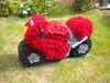 Motor Bike 3D made from flowers
