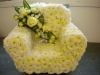 Armchair made from flowers