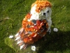Owl made from flowers