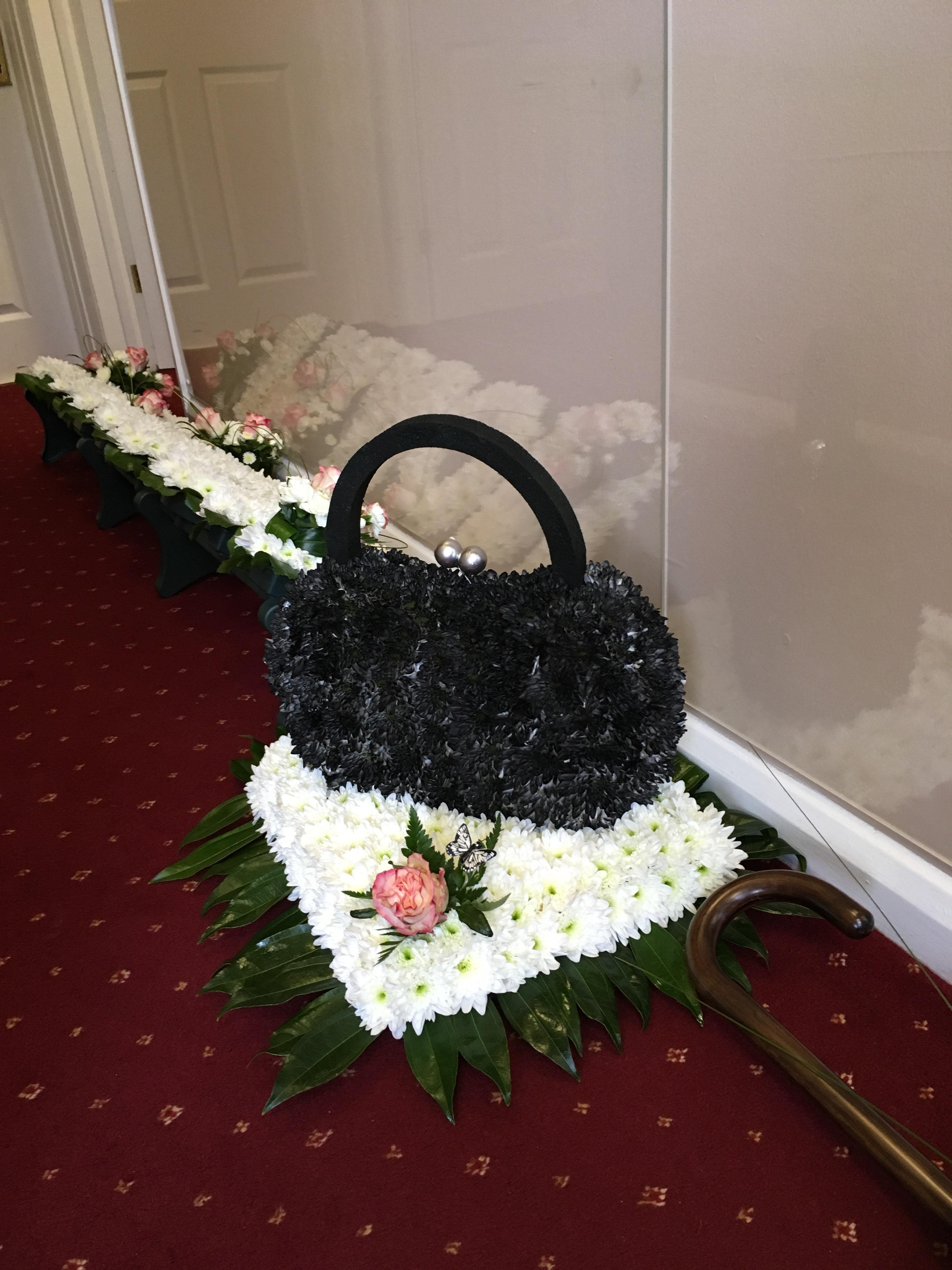 Handbag made from flowers