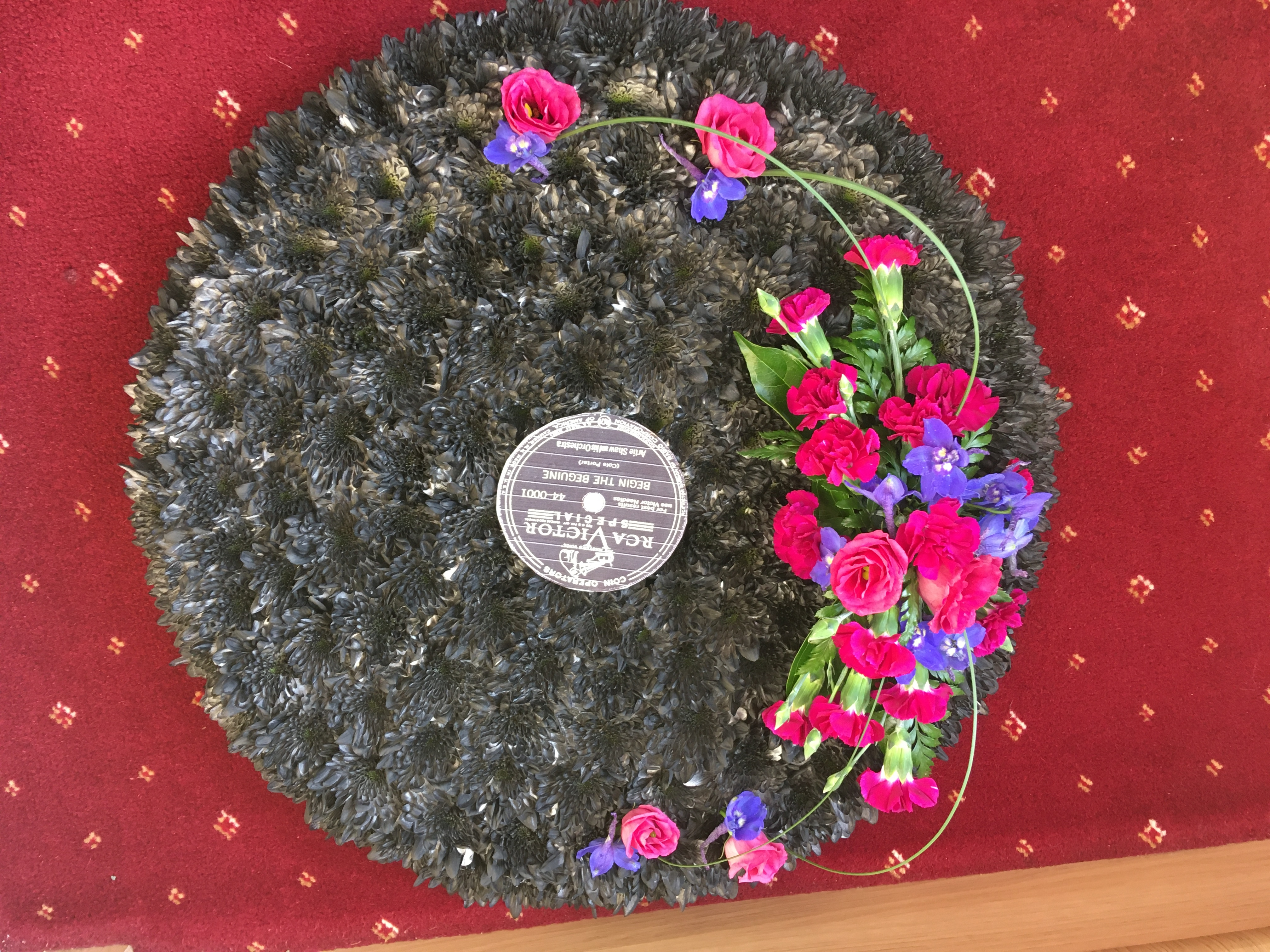 Record made from flowers