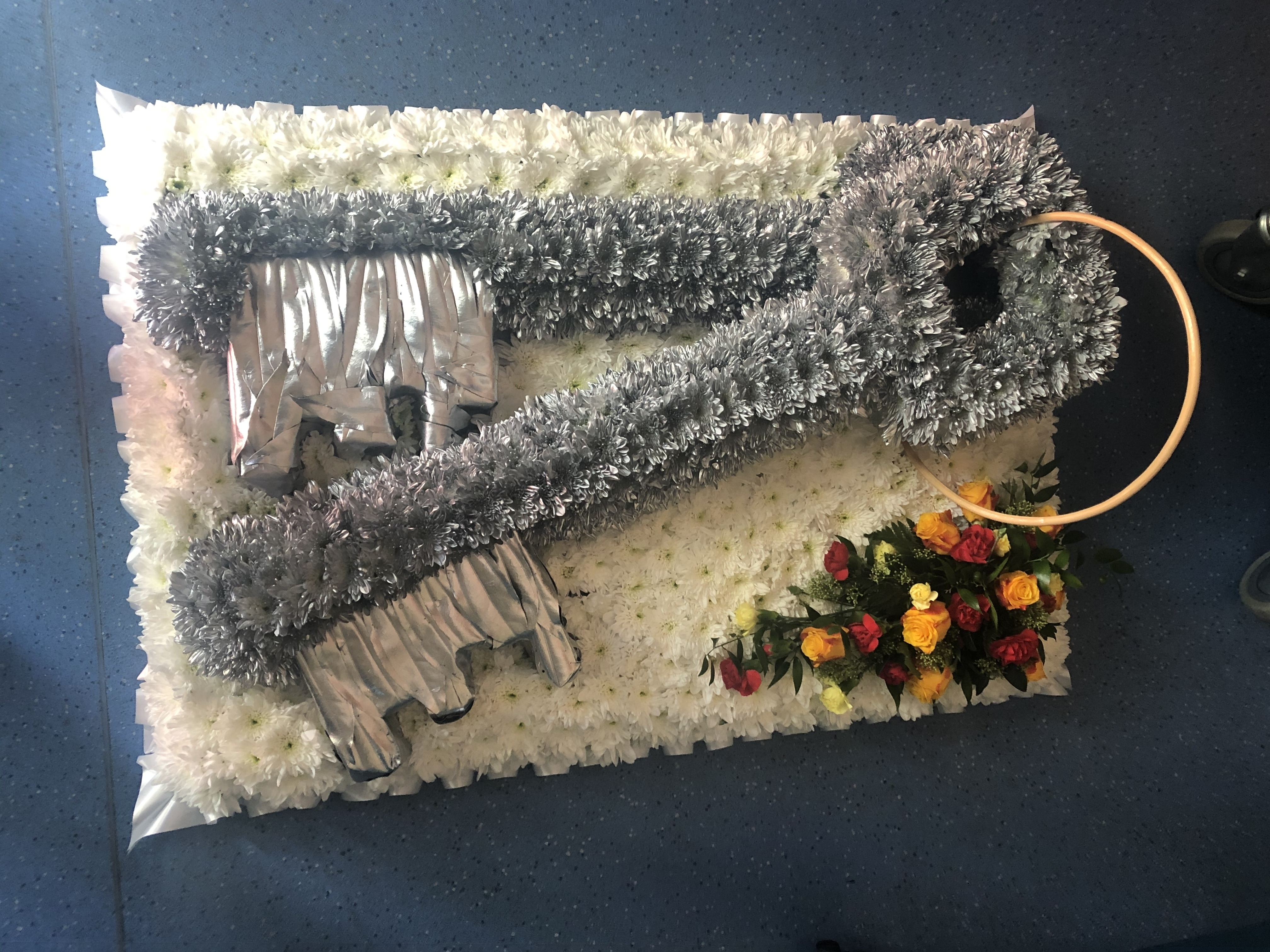 Keys made from flowers