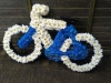 Bicycle made from flowers