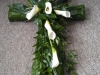 Key of life Cross made with flowers