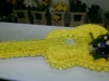 Guitar made from flowers