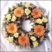 floral funeral wreath loose flowers 12""