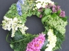 Grouped flower funeral wreath 16""