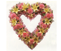 Heart flower arrangements for funerals