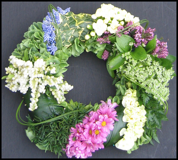 Cluster Funeral Wreath